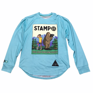 STAMP RUN&CO(スタンプ ランアンドコー) STAMP LONG SLEEVE TEE (TRAIL HEAD) ドライ長袖Tシャツ