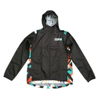 STAMP RUN&CO  HOODIE(Black/LandscapeShapes) メンズ フルジップ・ウインドシェル