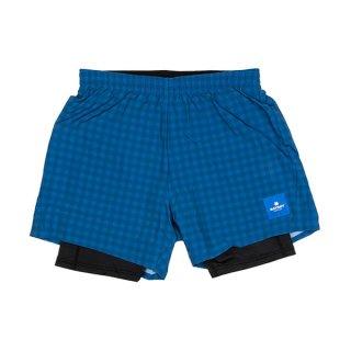 SAYSKY(セイスカイ) Checker 2 In 1 Shorts メンズ・レディース ランニングショーツ インナーパンツ付き