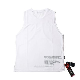 MMA マウンテンマーシャルアーツ MMA Racing Sleeveless (White) メンズ ドライノースリーブシャツ