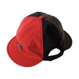 ELDORESO(エルドレッソ) Twins Cap(BR/RED) E7006111 メンズ・レディース ダブルブリム仕様のランニングキャップ