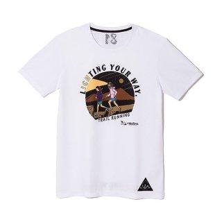 milestone×STAMP RUN & CO.(マイルストーン×スタンプランアンドコー) original T-shirts WHITE コラボTシャツ メンズ・レディース ドライ半袖Tシャツ