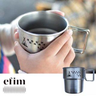 efim エフィム Stacking mag stainless ステンレス製マグカップ BL-STA-MG【食器 飲み物 保温 保冷 コップ 大きい 北欧雑貨 BBQ キャンプ用品 アウトドア】