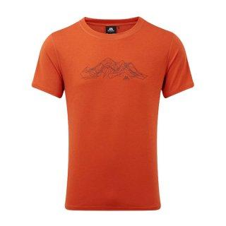 MOUNTAIN EQUIPMENT(マウンテンイクイップメント) GROUNDUP MOUNTAIN TEE(グランダップ・マウンテン・ティー) メンズ・レディース 速乾性ドライ半袖Tシャツ