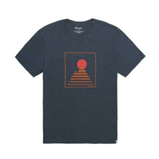 Cotopaxi(コトパクシ) Square Mountain T-Shirt - Men's indigo メンズ 半袖Tシャツ