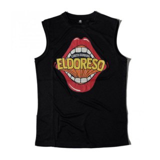 ELDORESO(エルドレッソ) Lips Sleeveless(Black) メンズ・レディース ドライ ノースリーブシャツ