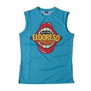 ELDORESO(エルドレッソ) Lips Sleeveless(Blue) メンズ・レディース ドライ ノースリーブシャツ