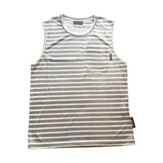 MMA マウンテンマーシャルアーツ MMA Polartec Power Dry Border Sleeve-less メンズ ノースリーブシャツ
