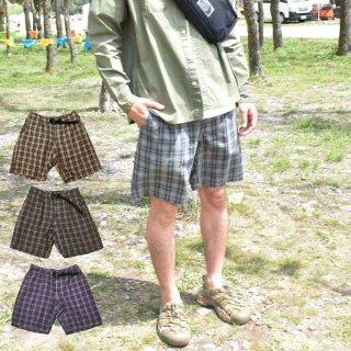 ROKX ロックス メンズ INDIGO CHECK SHORT インディゴチェックショート RXMS213004【ショートパンツ 短パン 登山 キャンプ用品 ソロキャンプ アウトドア】