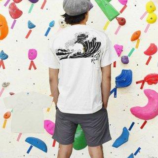 ROKX ロックス メンズ UKIYOE WAVE TEE ウキヨエ ウェーブ Tシャツ RXMS214013【半袖 カットソー 登山 キャンプ用品 ソロキャンプ アウトドアファッション】