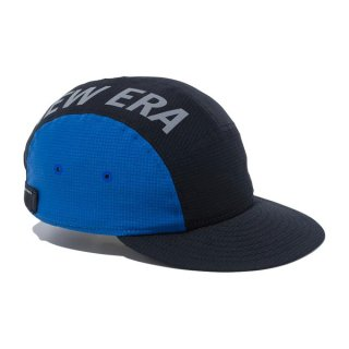 New Era(ニューエラ) ジェットキャップ テックエアー NEW ERA リフレクターロゴ ブラック / ブルー メンズ・レディース ランニングキャップ