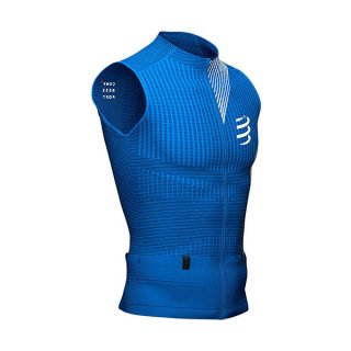★COMPRESSPORT(コンプレスポーツ) トレイル ポスチュラル タンクトップ メンズ ジップ ノースリーブシャツ