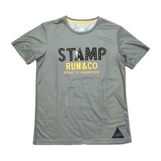 STAMP RUN&CO(スタンプ ランアンドコー) STAMP GRAPHIC RUN TEE メンズ ドライ 半袖Tシャツ