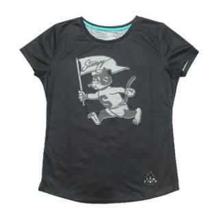 STAMP RUN&CO(スタンプ ランアンドコー) STAMP WOMENS GRAPHIC RUN TEE レディース ドライ 半袖Tシャツ