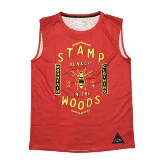 STAMP RUN&CO(スタンプ ランアンドコー) STAMP GRAPHIC TANK メンズ ドライ タンクトップ・ノースリーブシャツ