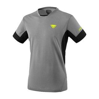 DYNAFIT ディナフィット Vert T-Shirt Men QuietShadeMelange メンズ ドライ 半袖シャツ