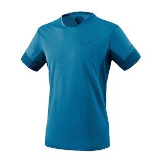 DYNAFIT ディナフィット Vert T-Shirt Men MykonosBlueMelange メンズ ドライ 半袖シャツ