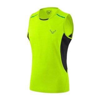 DYNAFIT ディナフィット Vert Top Men Fluo Yellow メンズ ドライ タンクトップ・ノースリーブシャツ