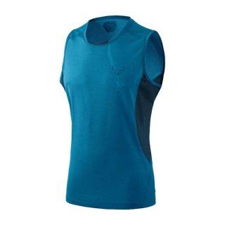DYNAFIT ディナフィット Vert Top Men Mykonos blue melange メンズ ドライ タンクトップ・ノースリーブシャツ
