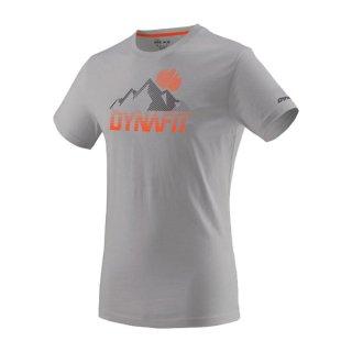 DYNAFIT ディナフィット Transalper Graphic T-Shirt Men AlloySynthwave メンズ ドライ 半袖シャツ