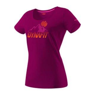 DYNAFIT ディナフィット Transalper Graphic T-Shirt Women BeetRedSynthwave レディース ドライ 半袖シャツ