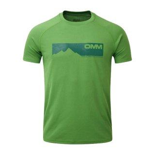 OMM オリジナルマウンテンマラソン Bearing Tee S/S Green Mountains メンズ 半袖Tシャツ