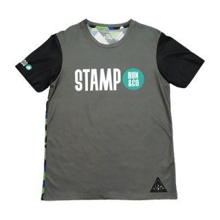 STAMP RUN&CO(スタンプ ランアンドコー) STAMP×Sotoaso コラボTシャツ メンズ・レディース ドライ半袖Tシャツ