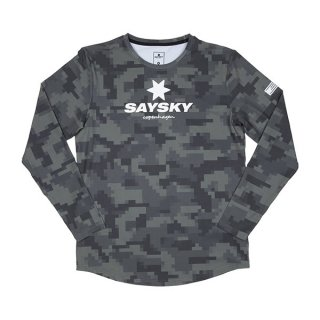 SAYSKY(セイスカイ) Camo Blaze LS - GREEN PIXEL CAMO メンズ・レディース 長袖シャツ