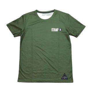STAMP RUN&CO(スタンプ ランアンドコー) STAMP GRAPHIC RUN TEE (STAMP LOGO TYPE) メンズ・レディース ドライ半袖Tシャツ