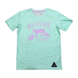 STAMP RUN&CO(スタンプ ランアンドコー) STAMP GRAPHIC RUN TEE (Respect WILDLIFE) メンズ・レディース ドライ半袖Tシャツ