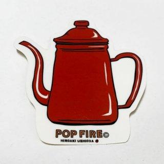 POPFIRE ポップファイヤー アウトドアステッカー ウシオダ ヒロアキ PS0016【シール かわいい 可愛い おしゃれ かっこいい ブランド アウトドア】