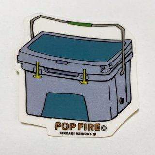POPFIRE ポップファイヤー アウトドアステッカー ウシオダ ヒロアキ PS0023【シール かわいい 可愛い おしゃれ かっこいい ブランド アウトドア】