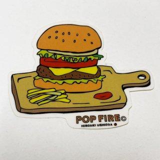POPFIRE ポップファイヤー アウトドアステッカー ウシオダ ヒロアキ PS0024【シール かわいい 可愛い おしゃれ かっこいい ブランド アウトドア】
