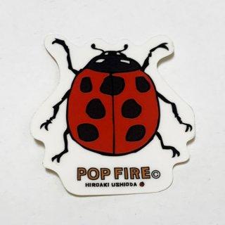 POPFIRE ポップファイヤー アウトドアステッカー ウシオダ ヒロアキ PS0030【シール かわいい 可愛い おしゃれ かっこいい ブランド アウトドア】