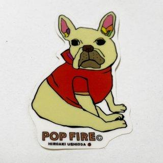 POPFIRE ポップファイヤー アウトドアステッカー ウシオダ ヒロアキ PS0038【シール かわいい 可愛い おしゃれ かっこいい ブランド アウトドア】