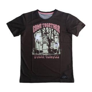 STAMP RUN&CO(スタンプ ランアンドコー) STAMP GRAPHIC RUN TEE (COME TOGETHER) メンズ・レディース ドライ半袖Tシャツ