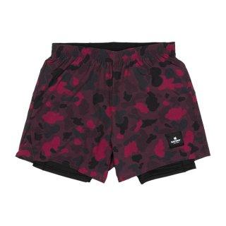 SAYSKY(セイスカイ) Camo 2 In 1 Shorts - RED DUCK CAMO メンズ・レディース ランニング ショートパンツ