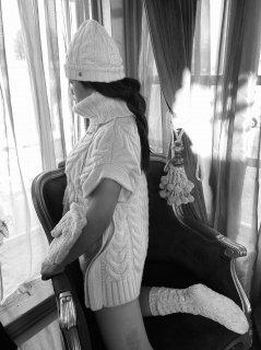 カシミヤニット帽 『cashmere mimi』Sサイズ