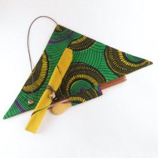 アフリカ布のランチョンマット風の箸袋