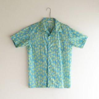 メンズシャツ(オープンカラー)(オリジナルブロックプリント全3色)