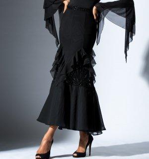セレニスロングスカート ブラック