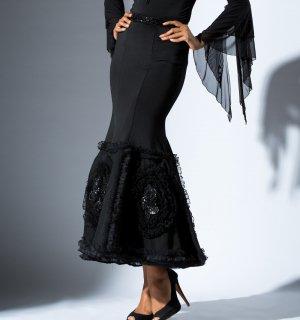 シンフォニアロングスカート ブラック