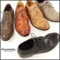 PADRONE(パドローネ)<br>DERBY PLAIN TOE SHOES / JACK(ダービープレーントゥシューズ)