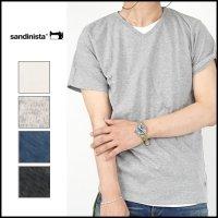 SANDINISTA(サンディニスタ)<br>Cadet V/N Tee - 2 Packs / 半袖VネックT(2枚パック)