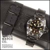 VAGUE WATCH CO.(ヴァーグウォッチカンパニー)<br>BLK SUB STAINLESS BELT(ブラックサブ+ステンレスベルト)