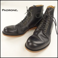 PADRONE(パドローネ)<br>LACE UP BOOTS with BACK ZIP