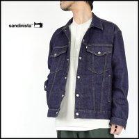 SANDINISTA(サンディニスタ)<br>B.C.Stretch Denim Jacket Easy Fit(イージーフィットデニムジャケット)