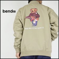 Bend(s)(ベンズ)<br>T/C Bomber jacket(バックプリントジップブルゾン)