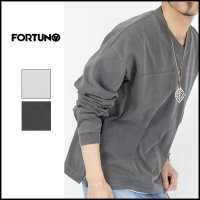 <img class='new_mark_img1' src='https://img.shop-pro.jp/img/new/icons6.gif' style='border:none;display:inline;margin:0px;padding:0px;width:auto;' />FORTUNA HOMME(フォルトゥナ オム)<br>AsutexDye V-neckLong T(VネックロングスリーブT)