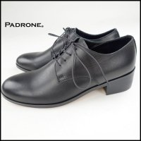PADRONE(パドローネ)<br>BL DERBY SHOES(プレーントゥヒールシューズ)